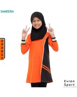Girl Muslimah Shirt EVIAN SPORT (Orange)