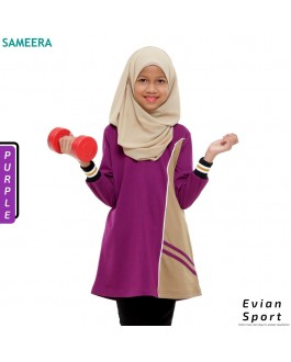 Girl Muslimah Shirt EVIAN SPORT (Purple)