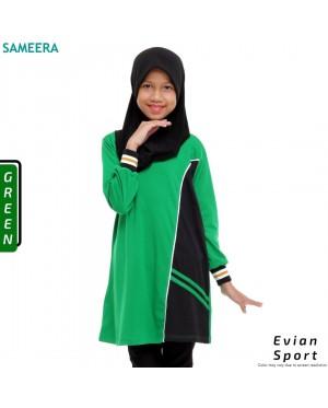 Girl Muslimah Shirt EVIAN SPORT (Green)