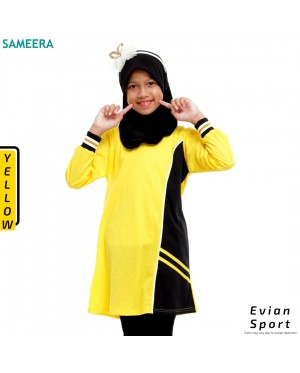 Girl Muslimah Shirt EVIAN SPORT (Yellow)