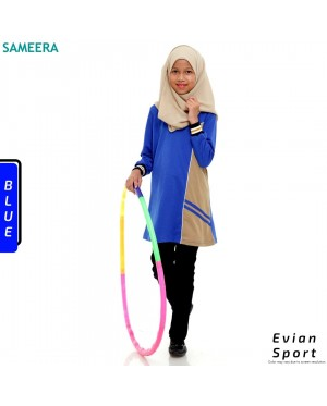 Girl Muslimah Shirt EVIAN SPORT (Blue)