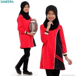 Girl Muslimah Shirt EVIAN SPORT (Red)