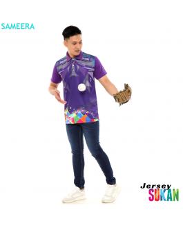 Sameera Jersey Sukan Men Collar Purple
