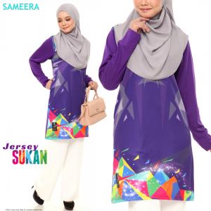 Sameera Jersey Sukan Women Purple