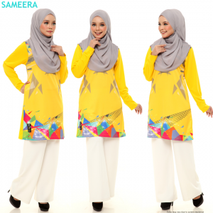 Sameera Jersey Sukan Women Yellow