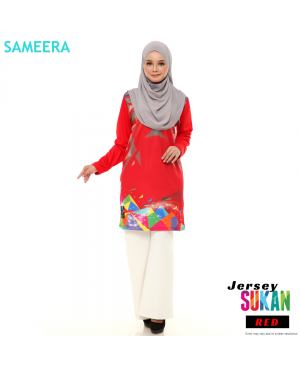 Sameera Jersey Sukan Women Red