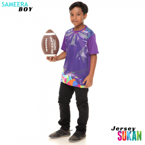 Sameera Jersey Sukan Boy Purple