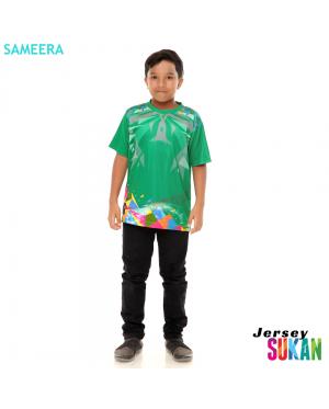 Sameera Jersey Sukan Boy Green