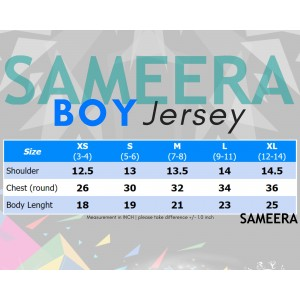 Sameera Jersey Sukan Boy Red