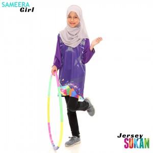 Sameera Jersey Sukan Girl Purple