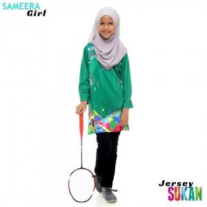 Sameera Jersey Sukan Girl Green