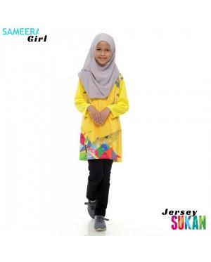 Sameera Jersey Sukan Girl Yellow