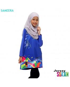 Sameera Jersey Sukan Girl Blue