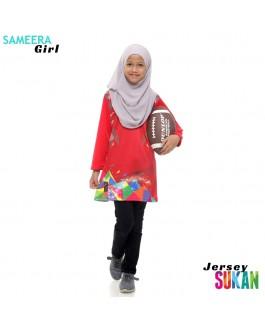 Sameera Jersey Sukan Girl Red