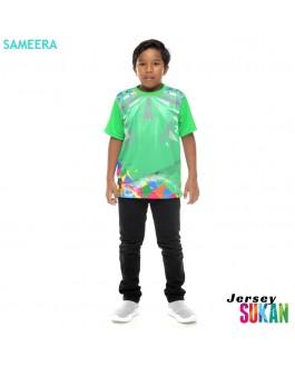 Sameera Jersey Sukan Boy Apple Green
