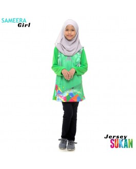 Sameera Jersey Sukan Girl Apple Green