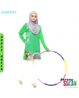 Sameera Jersey Sukan Women Apple Green