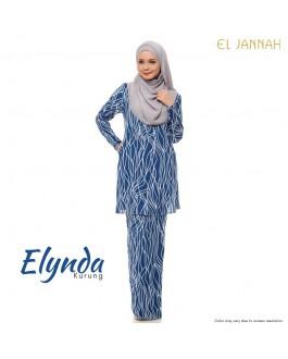 Kurung Cotton ELYNDA Cobalt Blue