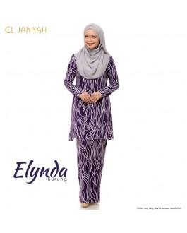 Kurung Cotton ELYNDA Purple Plum