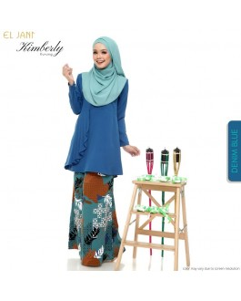 KIMBERLY Kurung Denim Blue