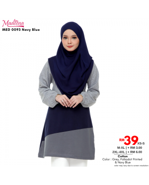 Baju Muslimah Nursing MED0093 Navy Blue