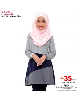 Baju Muslimah Girl MC0093 Navy Blue