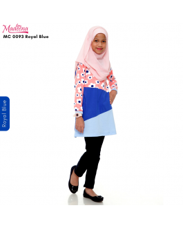 Baju Muslimah Girl MC0093 Royal Blue
