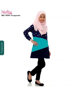 Baju Muslimah Girl MC0093 Turquoise