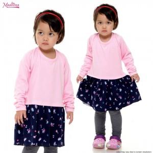 Baju Muslimah Girl MGD0021 Baby Pink