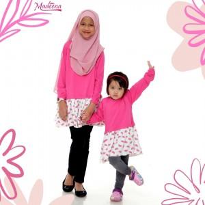Baju Muslimah Girl MGD0021 Pink