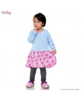 Baju Muslimah Girl MGD0021 Baby Blue