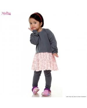 Baju Muslimah Girl MGD0021 Grey