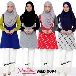 Baju Muslimah Nursing MED0094 GREY