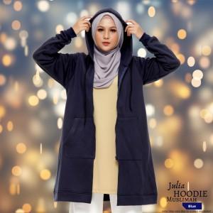 JULIA Hoodie Muslimah BLUE