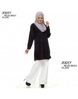 JERSEY MUSLIMAH PLAIN BLACK