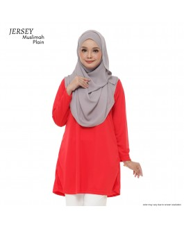 JERSEY MUSLIMAH PLAIN RED
