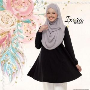 Blouse Muslimah IXORA Black