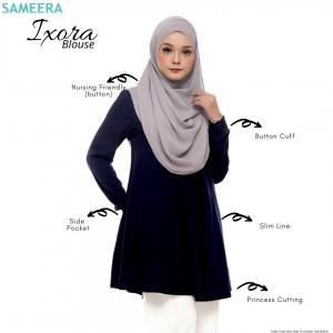 Blouse Muslimah IXORA Navy Blue