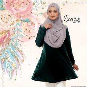 Blouse Muslimah IXORA Emerald Green