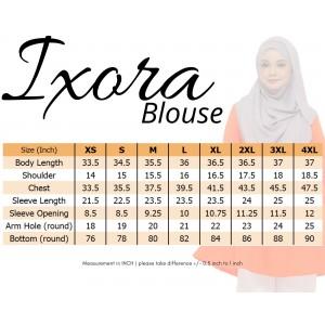 Blouse Muslimah IXORA Maroon