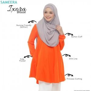 Blouse Muslimah IXORA Tangerine