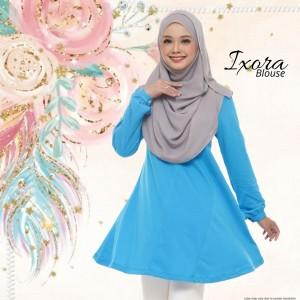 Blouse Muslimah IXORA Baby Blue