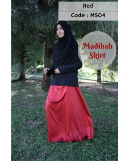 Madihah Flared Skirt MS04(Red)