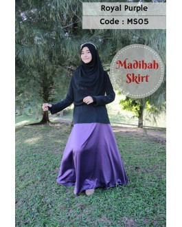 Madihah Flared Skirt MS05(Royal Purple)