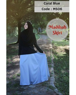 Madihah Flared Skirt MS06(Coral Blue)