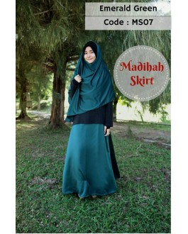 Madihah Flared Skirt MS07(Emeraldgreen)