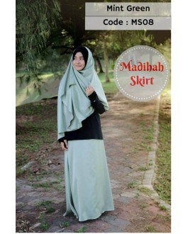 Madihah Flared Skirt MS08(Mint Green)
