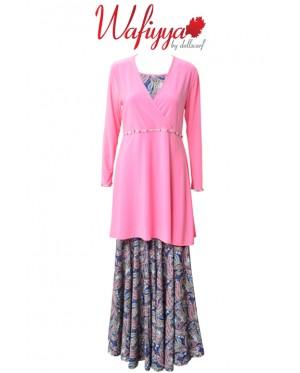 Baju Kurung Wafiyya WS001(Pink)