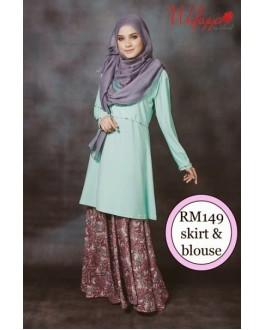 Baju Kurung Wafiyya WS002(Mint Green)