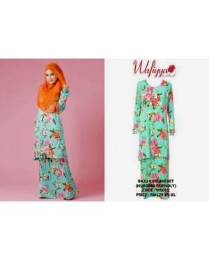Baju Kurung Wafiyya WS011(Green)